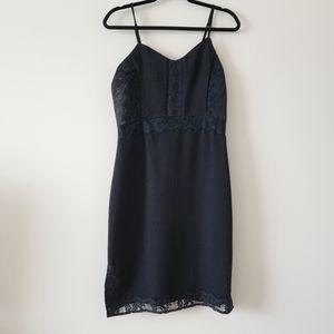 DEX Black Spaghetti Strap Lace Edged Dress